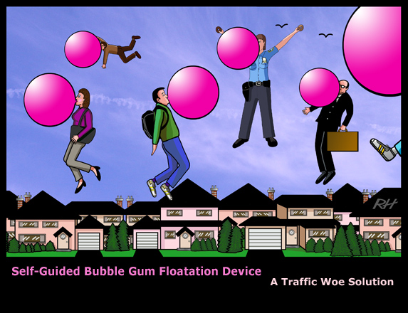 Self-Guided Bubble Gum Floatation Device
